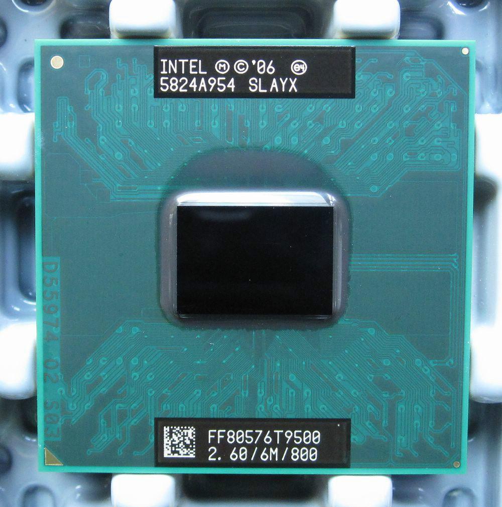 Original Intel Core 2 Duo t9500 laptop processor 6M Cache/2.6GHz/800/Dual-Core Laptop cpu for 965 chipset(China (Mainland))