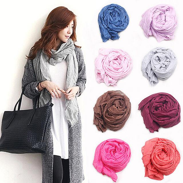 Шелковые шарфы сплошной цвет шали all-матч женщин сверхдальние фирменный стиль шарф зимы конфеты цвет мыс саломон испания bufandas