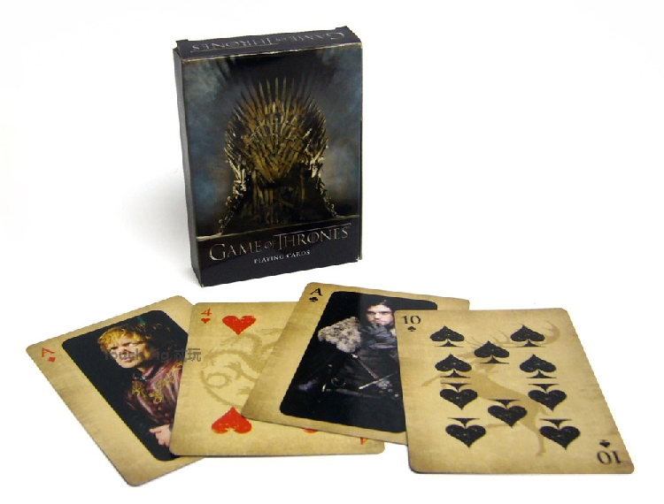 Free shippingHBO TV series Game of Thrones poker playing cards as collection A song of fire and ice derivative products(China (Mainland))