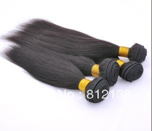 "4pcs/Lot  8""-30"" Straight Brazilian Hair 100% remy human hair extensions, HS-H202  Can Be Dyed, free shipping by DHL or FEDEX"