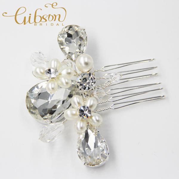 Free Shipping Crystal And Rhinestone Bridal Hair Pin Bridal Comb Wedding Hair Accessories(China (Mainland))