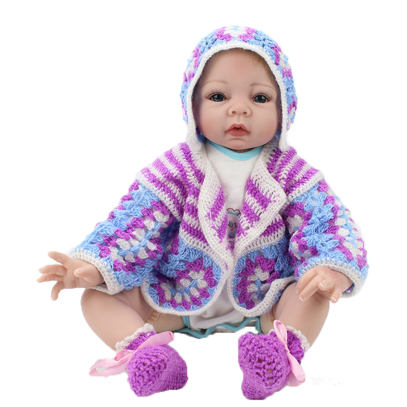 Newest Doll Reborn 22 Inch Toys Gift For Childs Realistic Soft Touch Baby Dolls Play House Toys