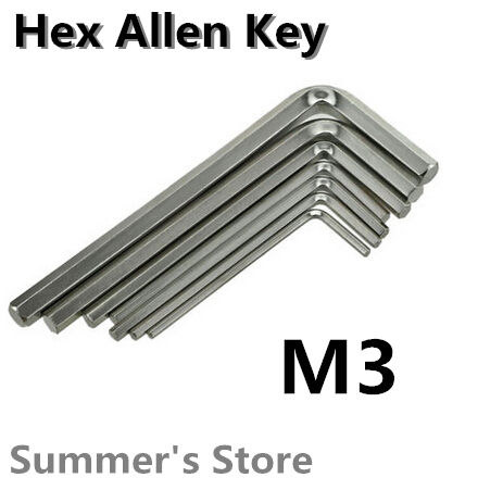 100pcs/lot Hex Allen Key 3mm Wrench 3mm Spanner 3mm fixing tools Hex Key M3(China (Mainland))