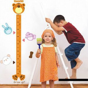 Free Shipping Hot Paper Cartoon Children Height Measurement Baby Wall Sticker Decals Home Decoration Decor Living For Kids Rooms(China (Mainland))