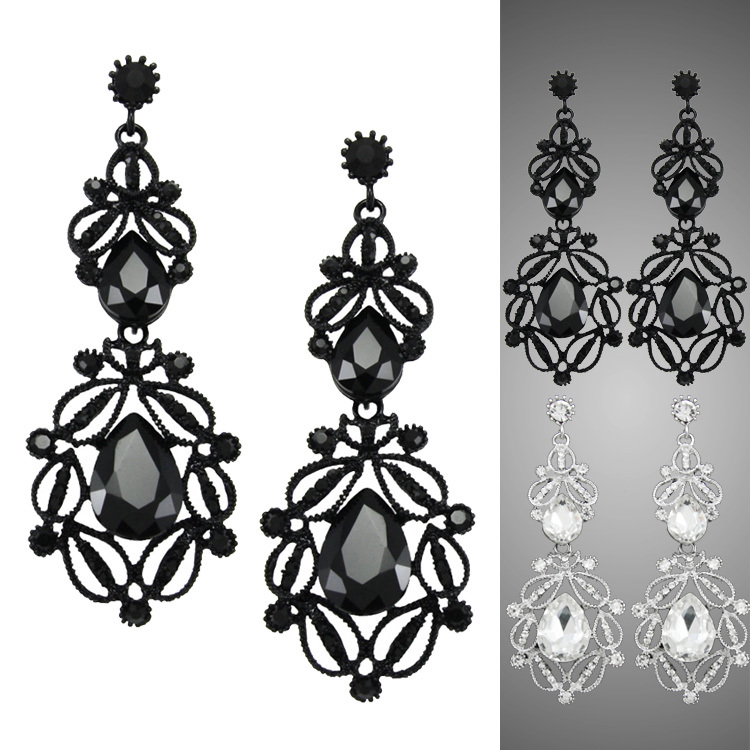Bijoux Jewelry Vintage Gothic Earrings gothic punk fashion big earrings for women 2015 long earings fashion jewelry ers-h15(China (Mainland))