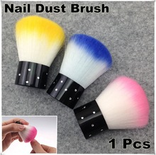 1 x Colorful Nail Tools Brush For Acrylic & UV Gel Nail Art Dust Cleaner + Free Shipping (NR – WS4)