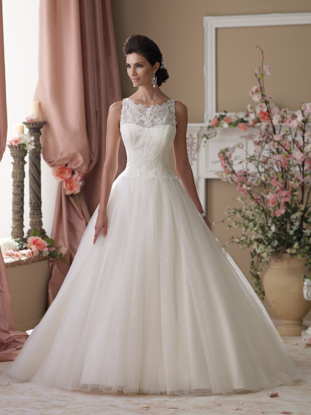 Ball Gown Wedding Dress With Lace Top - Best Wedding 2017