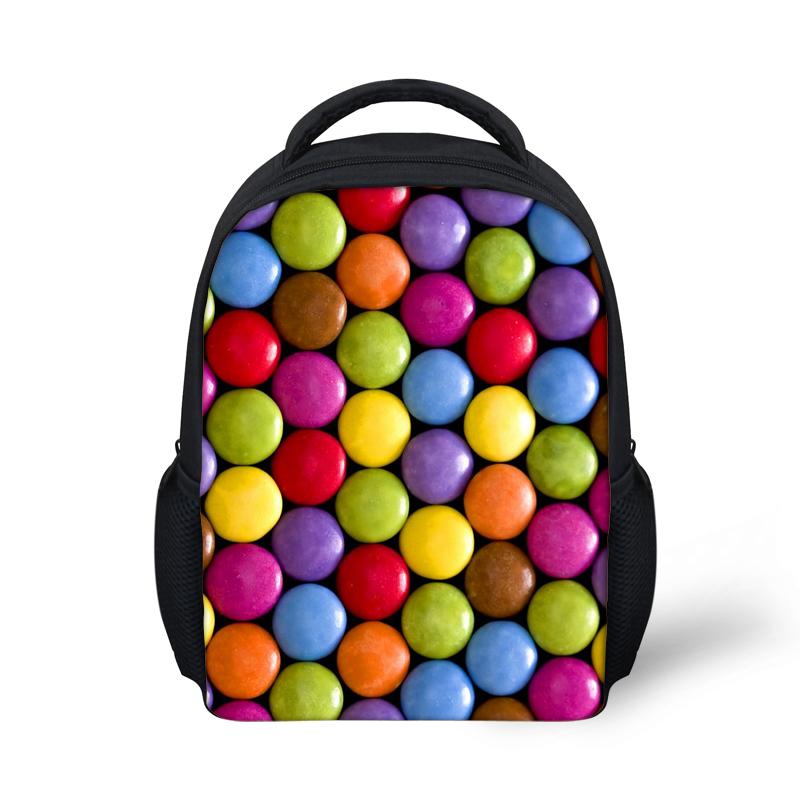 12 дюймов детский сад рюкзак девушки ранцы конфеты шоколад печать рюкзак мода дети Mochila
