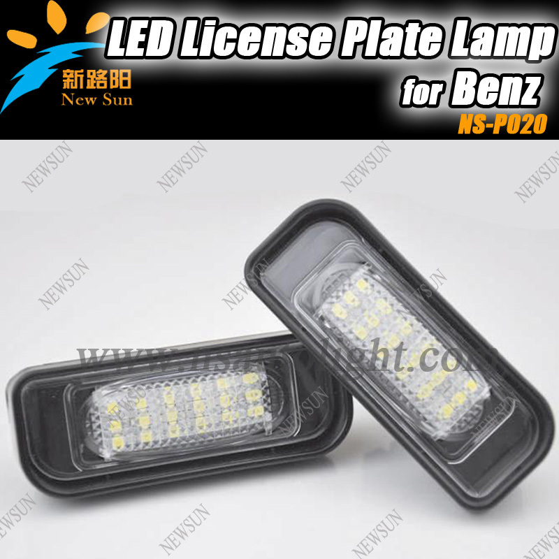 Free shipping Cheap BENZ W220 99-05 (S-class) Led License Plate Lights,Best Quality Error Free 18SMD 12V Car License Plate light(China (Mainland))