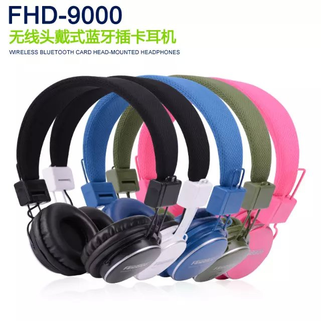 New arrival super bass Stereo Bluetooth Headset for iphone6s plus headphone mobile phone universal earphone wireless headhand