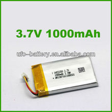 5Pcs Li-ion battery 1000mAh 3.7V Li-po Battery Lithium Rechargeable Battery for GSM,GPS,Cell phone(China (Mainland))