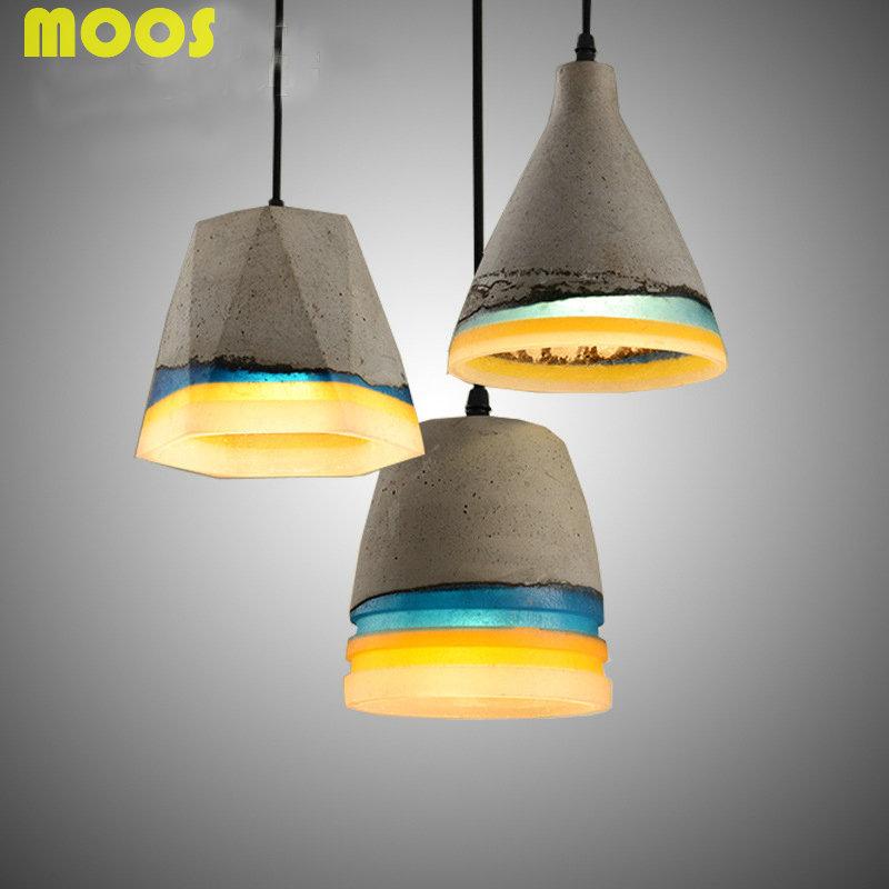 Retro Loft Resin Cement Pendant Lights Single Head Industrial Pendant Lamp Nordic Restaurant Hanging Lights Fixture Luminaires(China (Mainland))