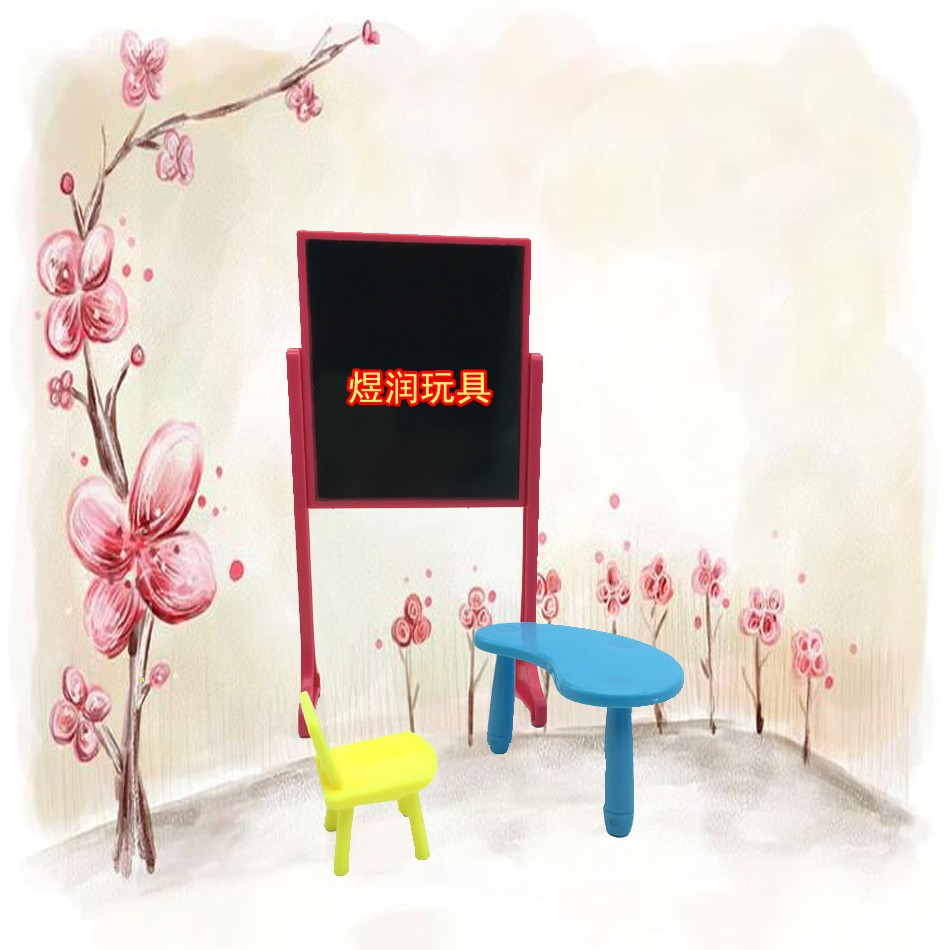 New Arrival Kelly doll Equipment Vogue classing room Furnishings Desks+stool+ blackboard  For Barbie
