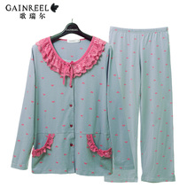 Song Riel mall with models sweet heart shaped male Ms comfortable long sleeved pajamas couple home