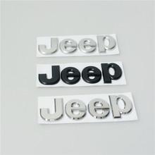 High Quality 5Pcs/lot Chrome / Matt Black Car Badge Rear Boot Front Bonnet Sticker Emblem For Jeep Cherokee Wrangler(China (Mainland))