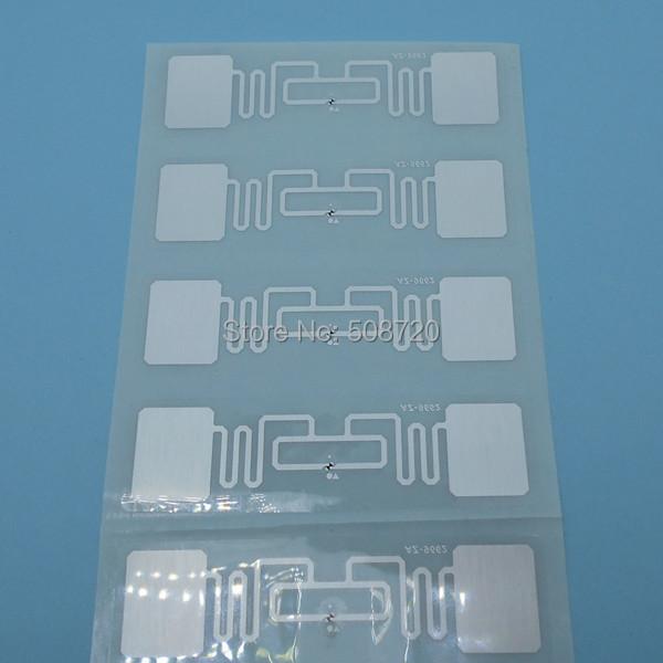 9662 ISO 18000-6C Alien H3 70x17 UHF tag RFID Adhesive Tag inlay RFID Label 100pcs/lot Free shipping(China (Mainland))