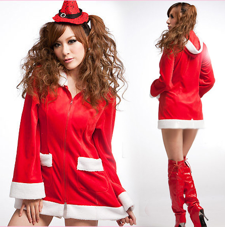 Free Shipping! Newest Christmas Miss Santa Claus Dress For Cosplay, Nightclub Bar And Halloween Party(China (Mainland))