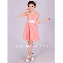 Hot ! Promotion Only $29.9 ready to ship in store sweetheart pleat more color Bridesmaid Dresses short for women under $30(China (Mainland))