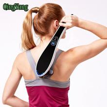 Electric Cervical Vertebra Massager Device.Vibrating Kneading Shoulder Back Neck Massager infrared Shiatsu.Body Relaxation&QY105(China (Mainland))