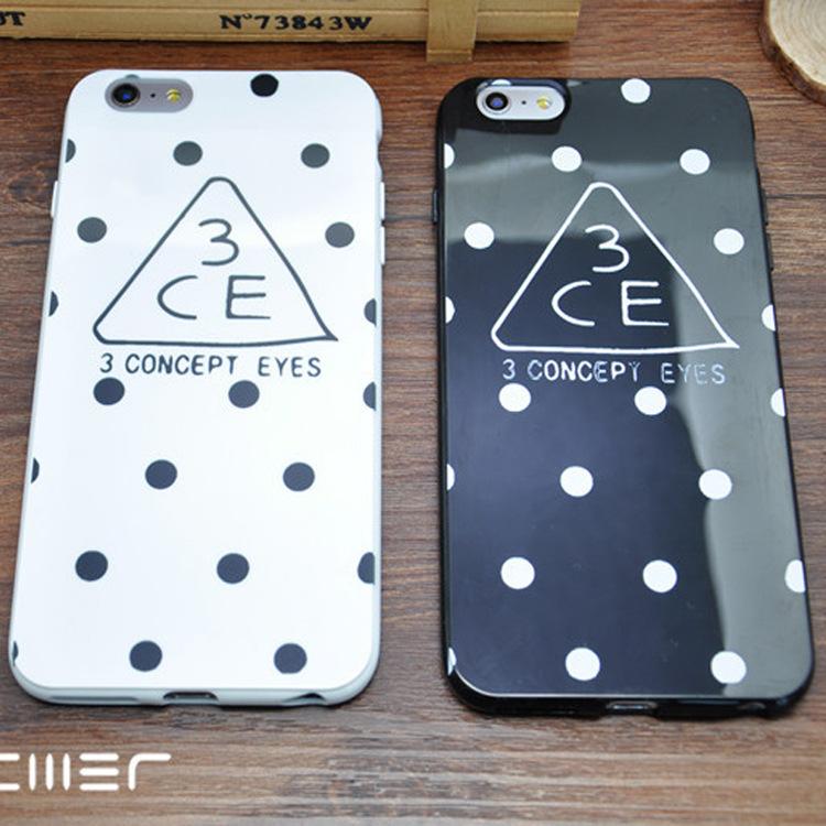 Гаджет  Creative with iPhone6/6plus 3CE mobile phone shell Korean waves apple 6/5s mobile phone shell None Изготовление под заказ
