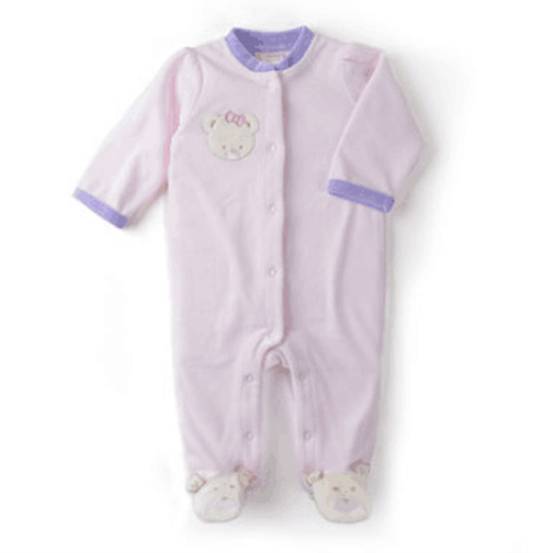 2015 New High Quality Cheap Newborn Unisex Baby Clothes Cute Cartoon Sky blue And Purple Infant Romper(China (Mainland))