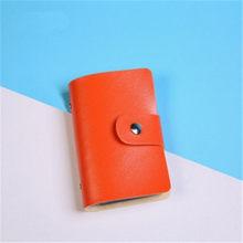 Portatarjetas de tarjeta de crédito para tarjetas de crédito 24 tarjetas de crédito multifunción cubierta de cuero PU bolsos de cartera 3020(China)
