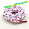 Weiou Brand New white flat shoelaces fashion flat athletic shoelaces football boot laces red shoe laces
