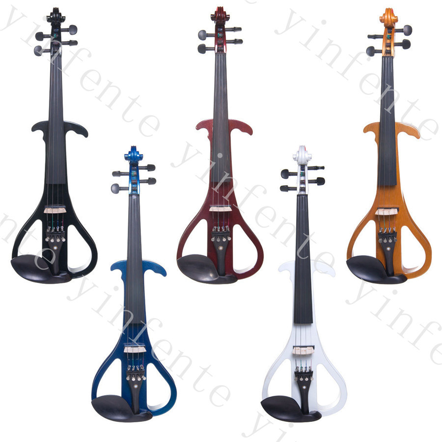 one dark Red color Solid wood  electric violin <br><br>Aliexpress
