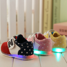 Free shipping 2015 new type spring  baby light shoes children sneaker kids casual shoes baby first walk toddler starlet shoes(China (Mainland))