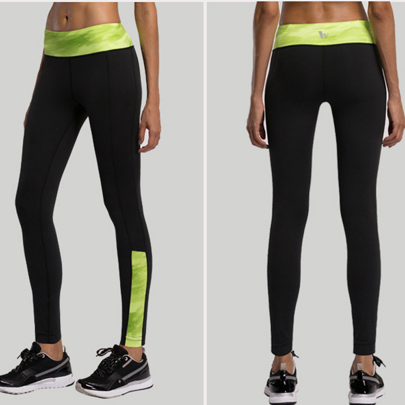 Hot!! Women Yoga Sports Pants Elastic Wicking Force Exercise Tights Female Sports Elastic Fitness Running Trousers Slim Leggings