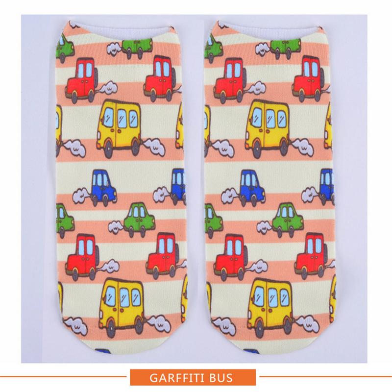 women socks socks print Cartoon cat owl socken short feminino meias cute low beauty harajuku chaussettes