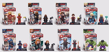 Sy271 8 unids módulo Super Heroes Avengers Minifigures Hulk viuda negro Eagle Eye justicia Flash liga Compatible con Lego