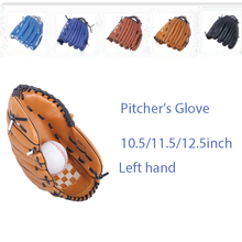 Hot 10.5/11.5/12.5 inch fast pitch sports baseball softball hardball left hand gloves for Children Youth Adults PVC high quality(China (Mainland))