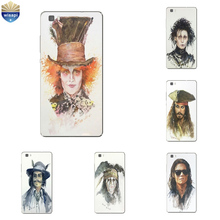 Phone Case Huawei P8/P8 P9 Lite Plus G9 Shell Honor 5C 7 7I Back Cover Mate 8 Cellphone Mad Hatter Design Painted - WISAPI Store store