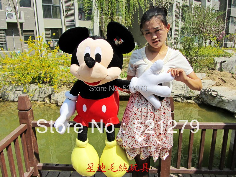 Free shipping 1pcs 70cm stuffed Mickey Mouse Stuffed Animal Toys,Mickey mouse plush toys for kids(China (Mainland))