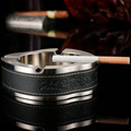 Hot Sale 1 Sets Zinc Alloy Smoking Cigarette Ashtray Holder with Windproof Lighter Portable Metal Cendrier