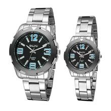 1 unids/lote 2015 nuevo 30 m resistente al agua de moda reloj de hombre vestido mujeres viste el reloj no par mecánico reloj de cuarzo