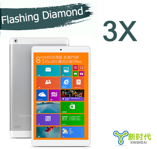 XINSHIDAI 3x Tablet PC Protective Film 8'' Teclast X80H Diamond Screen Protector Teclast X80H Windows8.1 Tablet Screen Guard(China (Mainland))