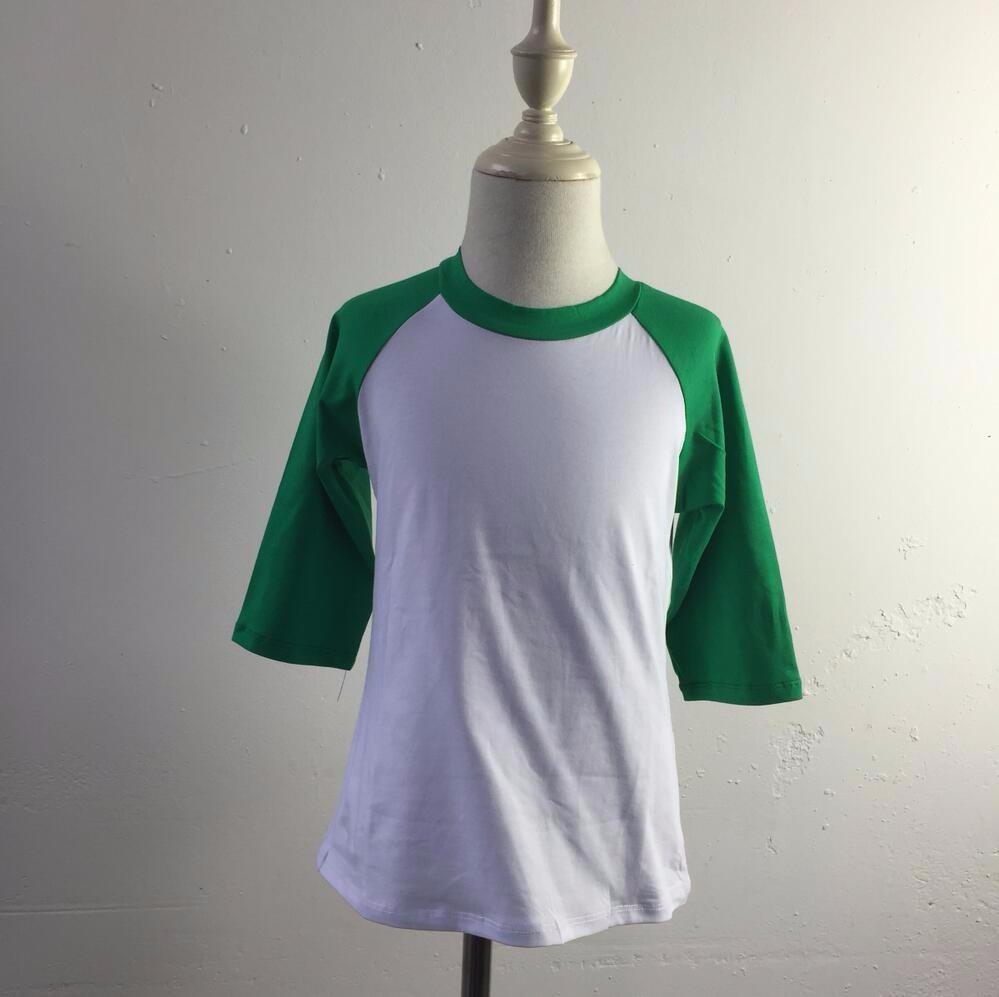 Wholesale 2016 fashion custom Infant/toddler 95% Cotton and 5% spandex 3/4 Sleeve Raglan baby kids t shirts(China (Mainland))