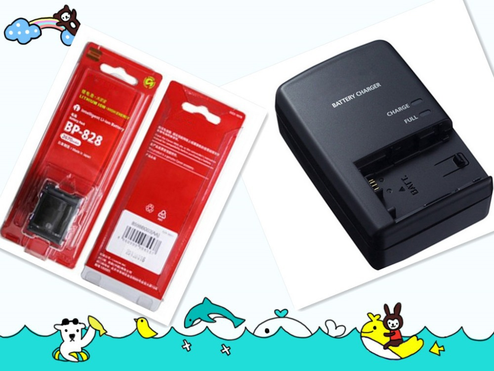 Original quality Genuine Replacement Battery+battery charger For Canon BP828 BP 828 BP-828 free shipping(China (Mainland))