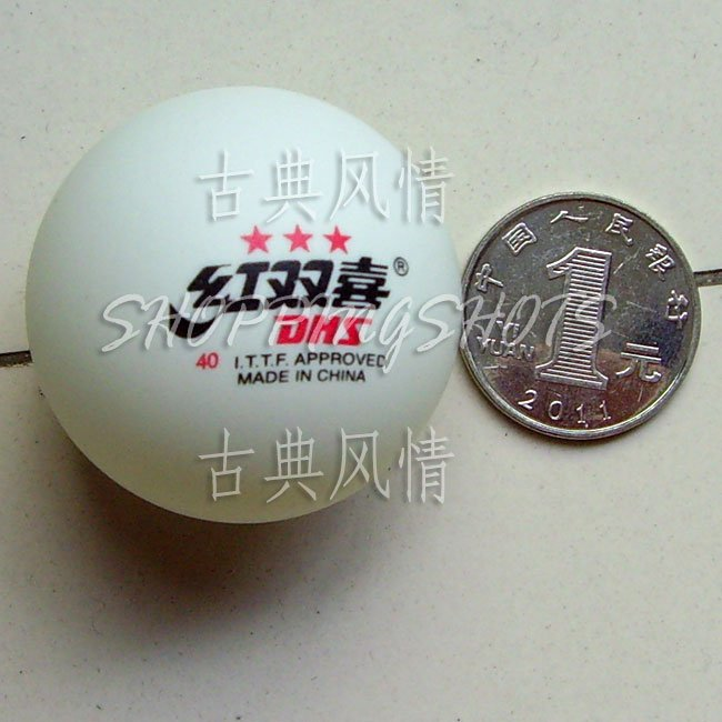 Ping Pong Table Tennis Balls Double Happine PP001 white(China (Mainland))