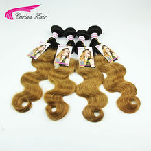 Buy Peruvian Virgin Hair Body Wave 4 Bundles 1b 27 Ombre Color Two Tone Human Hair Weave Shedding Fusion Hair Extensions for $125.98 in AliExpress store