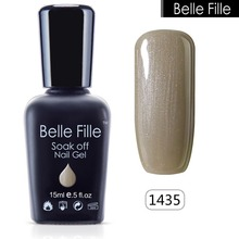 Buy BELLE FELLE 15ml Punk Color UV Gel Polish Bling Glitter cosmetics Makeup esmaltes permanentes de uv Manicure Nail art varnish for $2.79 in AliExpress store