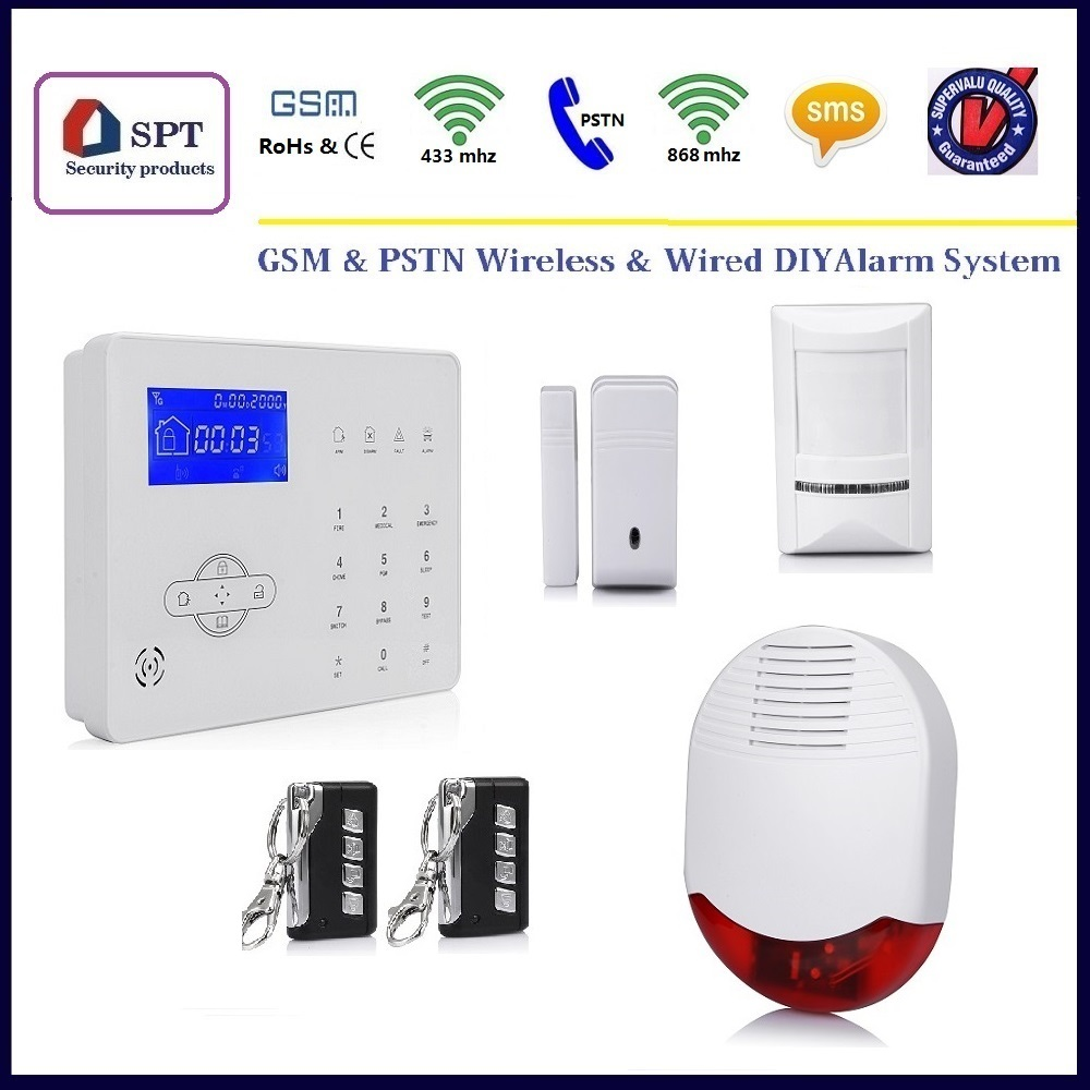 Гаджет  ST-IIIB PSTN GSM Wireless Alarm System, Auto Dial secuity Alarm System, Promotion Kit Price None Безопасность и защита