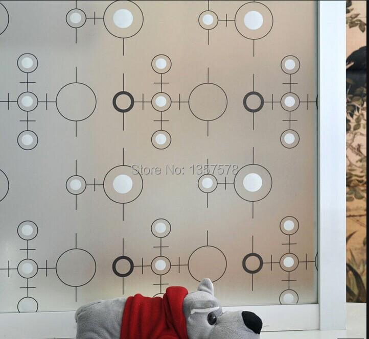 self-adhesive 200*45CM fashion circle S005 Window Film glass sticker new creative home decor for bathroom Office living room