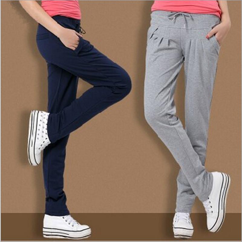 2016 Autumn fashion loose thin cotton sport pants Women's casual harem long trousers/ Ms training Sweatpants Active S-xxl - Male shop store