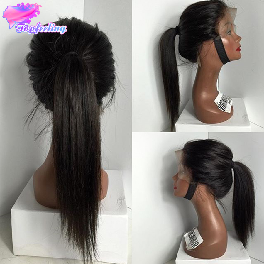 Гаджет  2015 New Style Peruvian Straight Full Lace Wigs Glueless Human Hair Silky Straight Lace Front Wig For Black Women With Baby Hair None Волосы и аксессуары