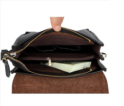 New 2015 fashion men bags men genuine leather messenger bag free shipping Lowest whole network