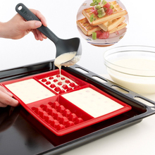 All Kinds Of Silicone Cake Mould 4 Even Larger Waffles Nestle Chocolate Cookie Mold Silicone Products(China (Mainland))