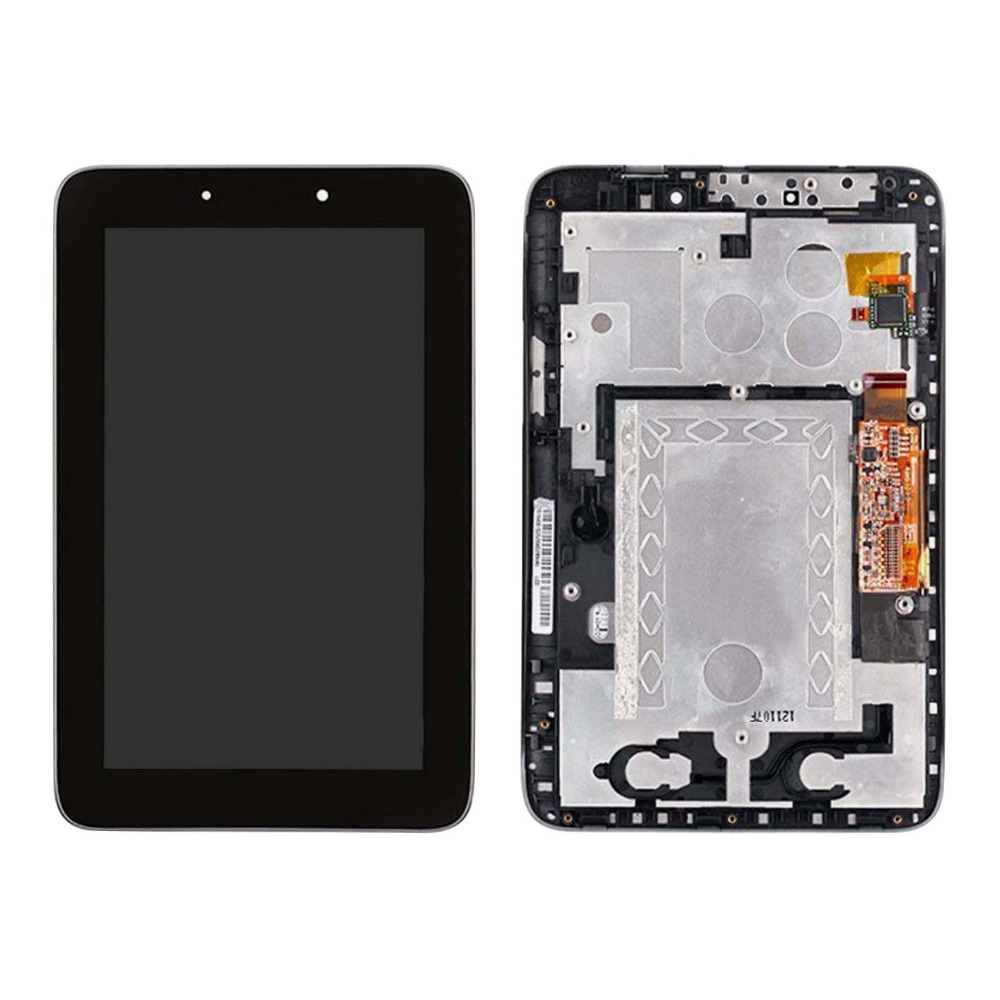 +Frame Black LCD Display + Touch Screen Digitizer Assembly Replacements FOR Lenovo IdeaTab A2107 A2207 Free shipping(China (Mainland))